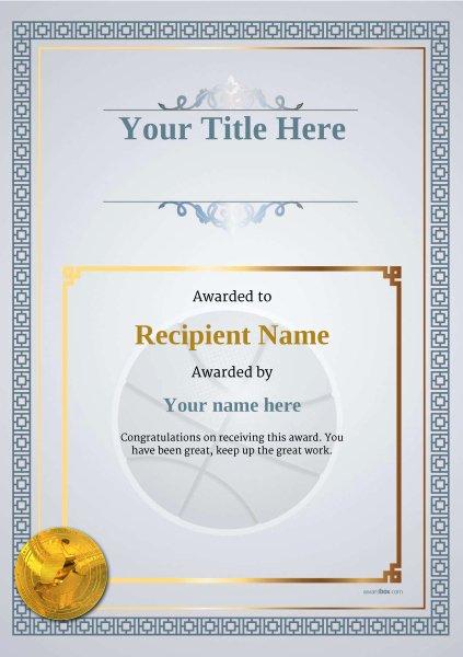 Basketball Award Certificate Template Lovely Free Basketball Certificate Templates Add Printable