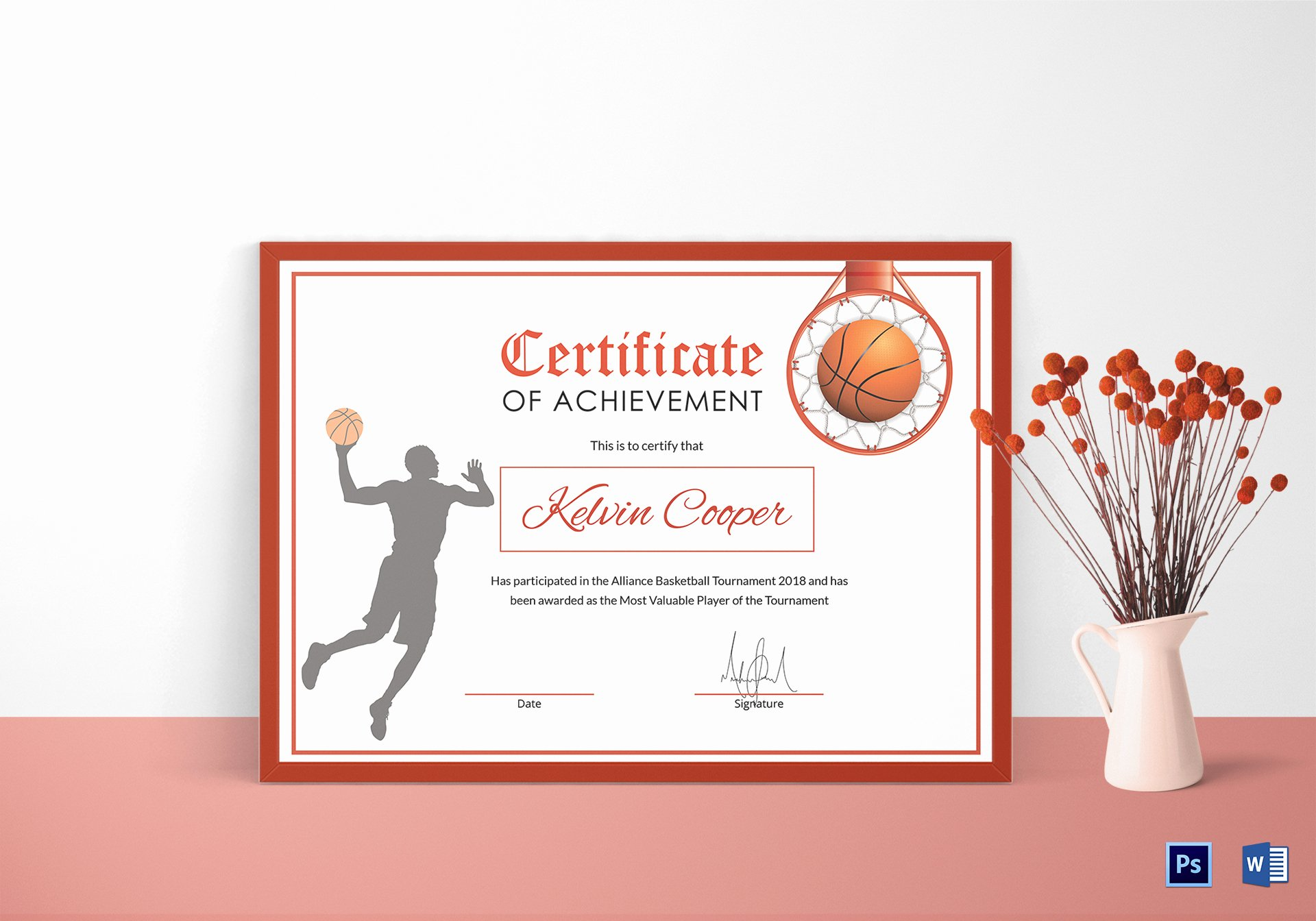 Basketball Award Certificate Template Luxury Basketball Award Achievement Certificate Design Template