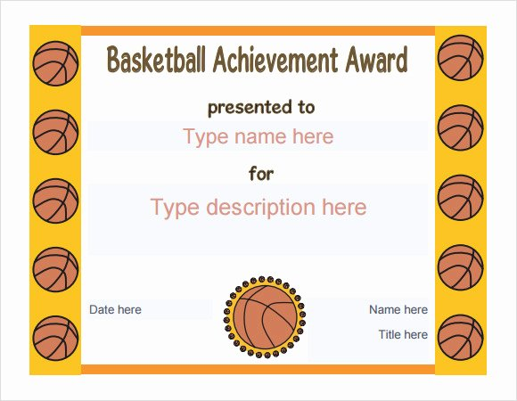 Basketball Award Certificate Template Unique 20 Sample Basketball Certificate Templates In Pdf