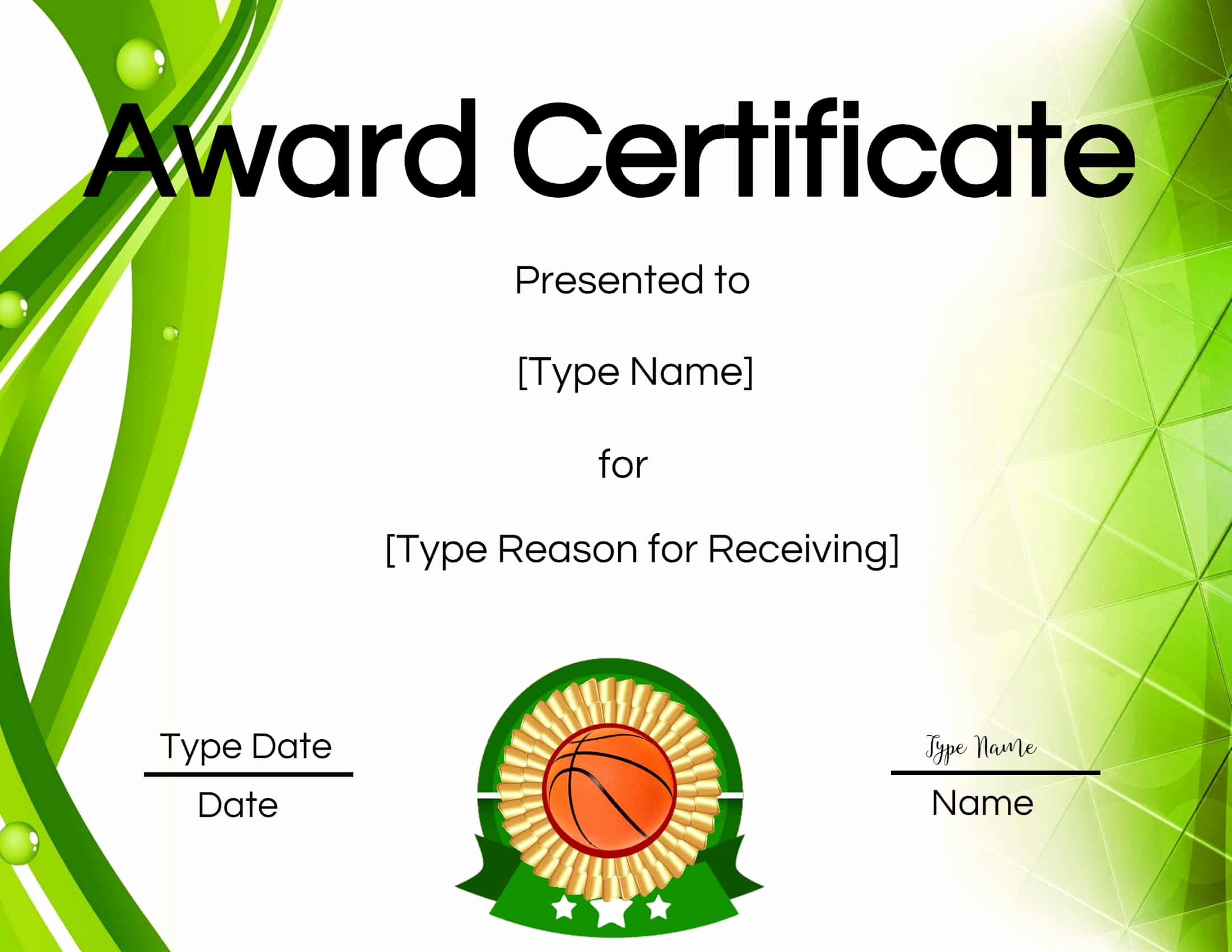 Basketball Award Certificate Template Unique Free Printable Basketball Certificates