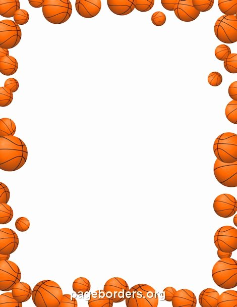 Basketball Border for Microsoft Word Lovely Printable Basketballs Border Use the Border In Microsoft