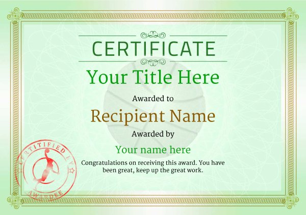 Basketball Certificate Template Free Awesome Free Basketball Certificate Templates Add Printable