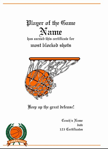 Basketball Certificate Template Free Best Of 13 Free Sample Basketball Certificate Templates