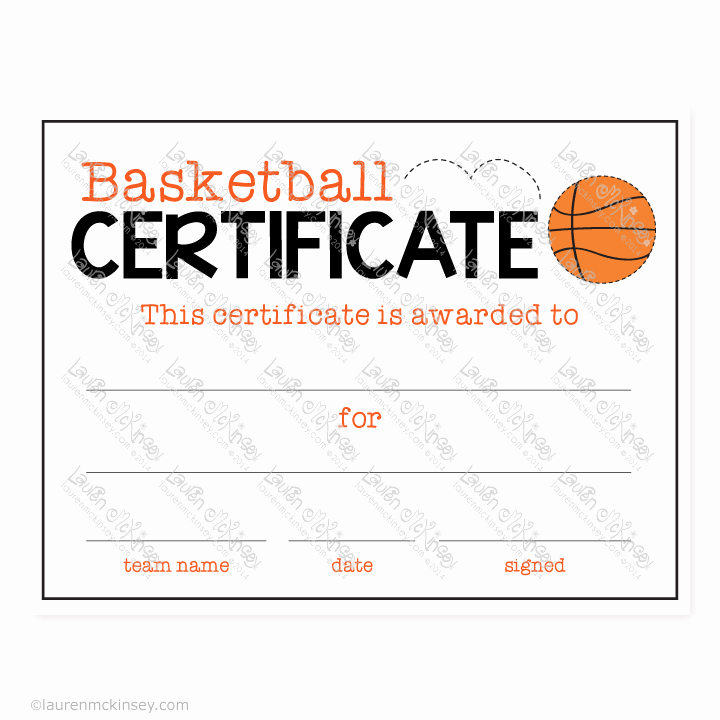 Basketball Certificate Template Free Elegant Celebrate Basketball Sports Banquet Party Printables by
