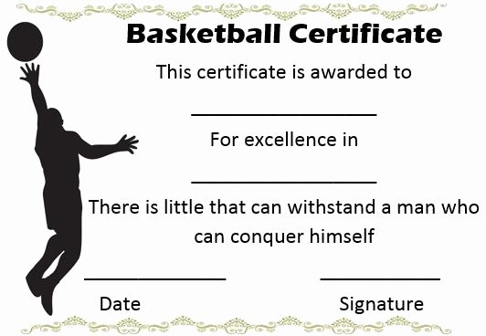 Basketball Certificate Template Free Lovely 27 Best Basketball Certificate Template Images On