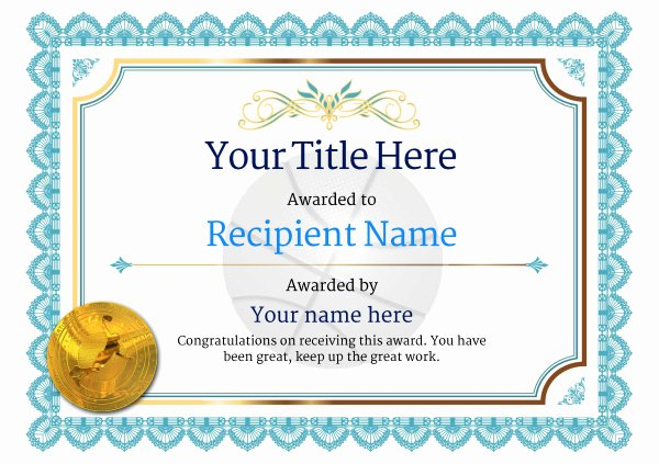 Basketball Certificate Templates for Word Fresh Free Basketball Certificate Templates Add Printable