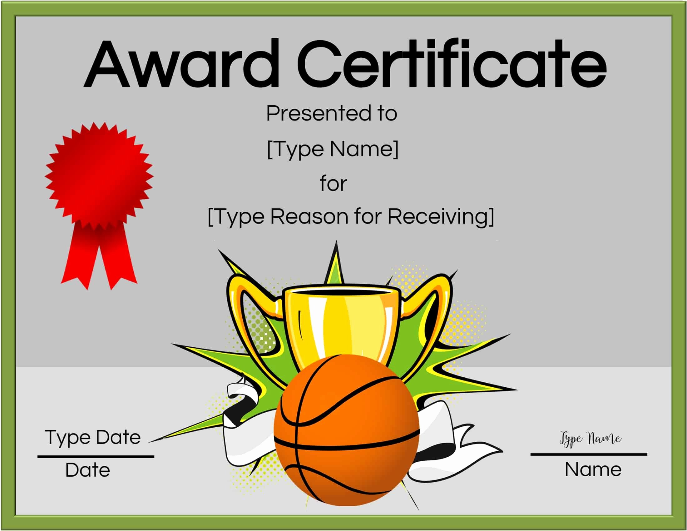 Basketball Certificate Templates for Word Luxury Free Printable Basketball Certificates