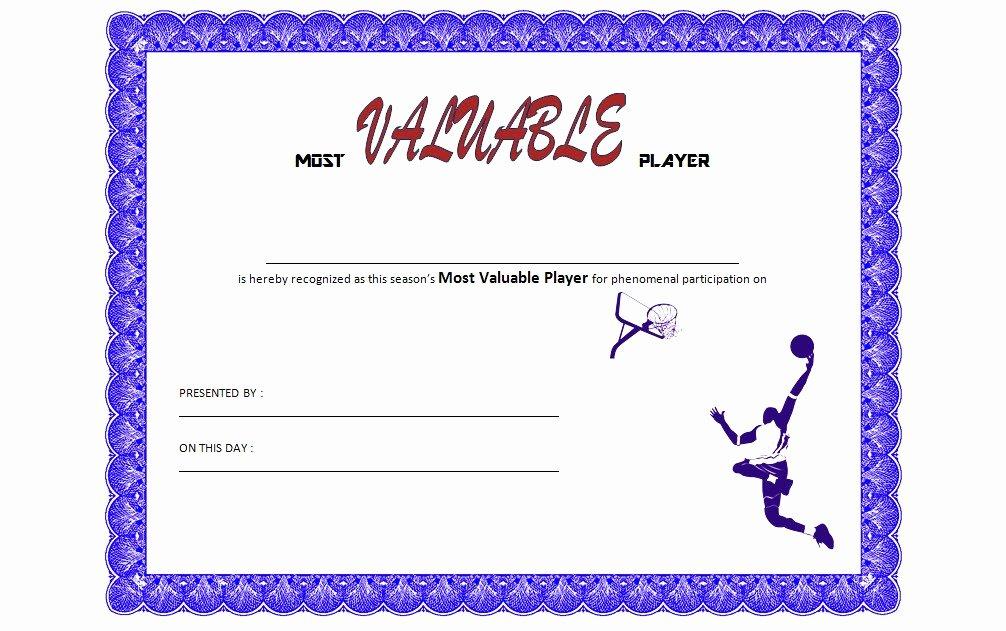 Basketball Certificates Free Download Elegant Download 10 Basketball Mvp Certificate Editable Templates