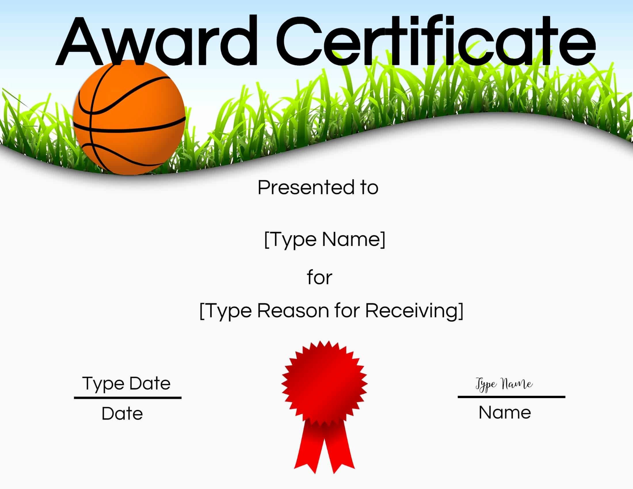 Basketball Certificates Free Download Fresh Free Printable Basketball Certificates