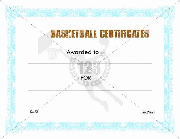 Basketball Certificates Free Download Inspirational Awesome Basketball Certificates Templates Free Download