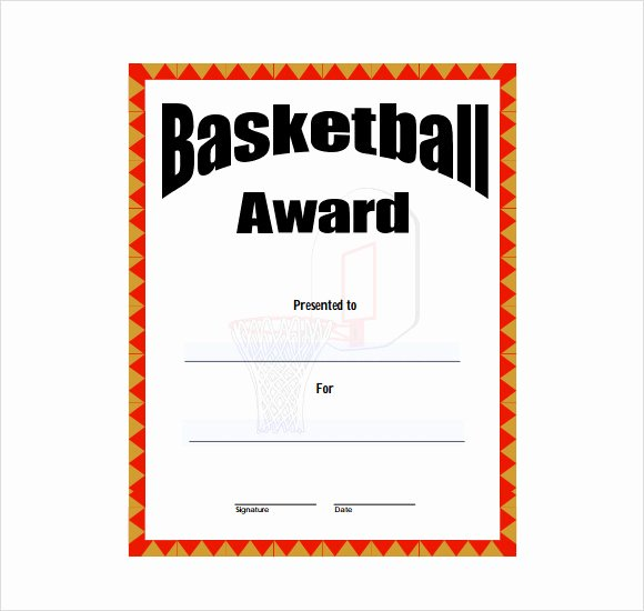 Basketball Certificates Free Download New 20 Sample Basketball Certificate Templates In Pdf