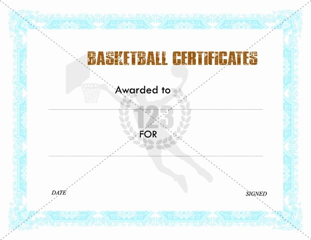 Basketball Certificates Free Download New Awesome Basketball Certificates Templates Free Download