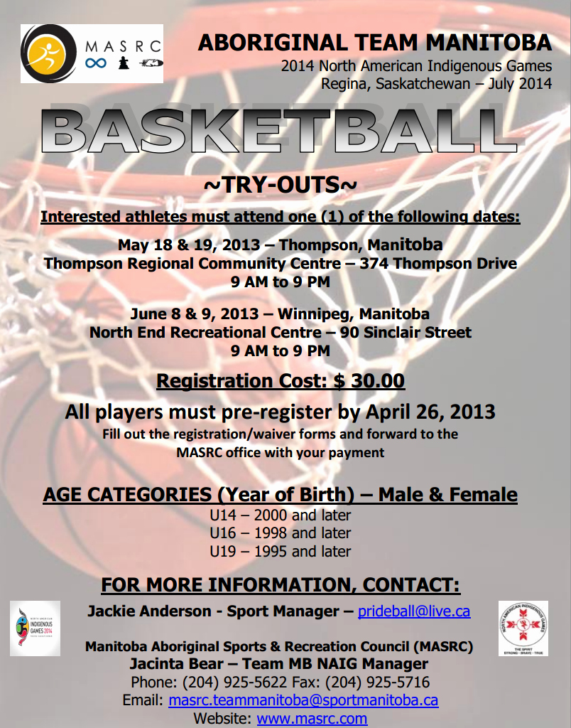 Basketball Tryout form Elegant Naig Team Manitoba Basketball Tryouts Set for Winnipeg and