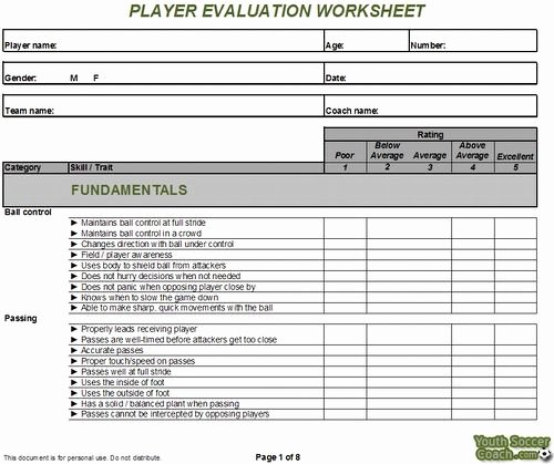 Basketball Tryout form New Basic soccer Skills for Beginners