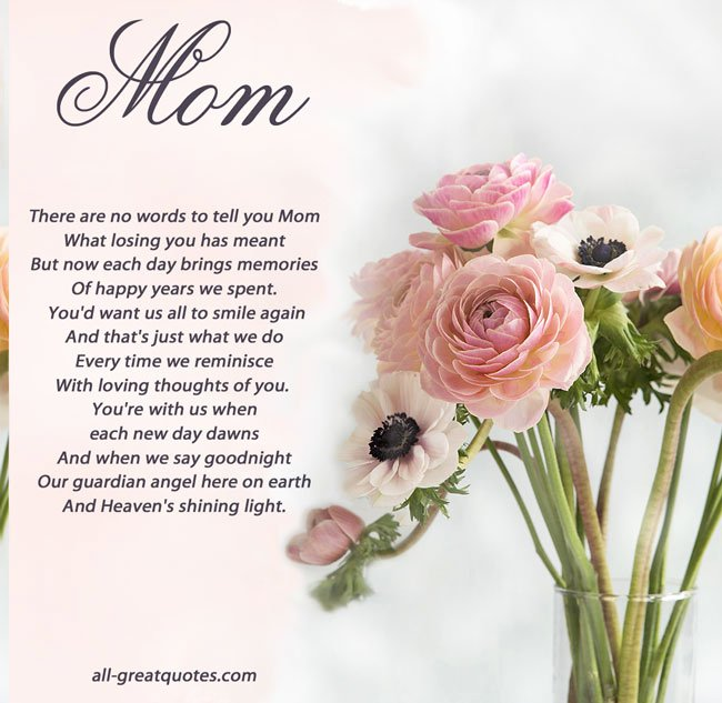 Beautiful Obituary for Mother Luxury In Loving Memory Mother Quotes Quotesgram