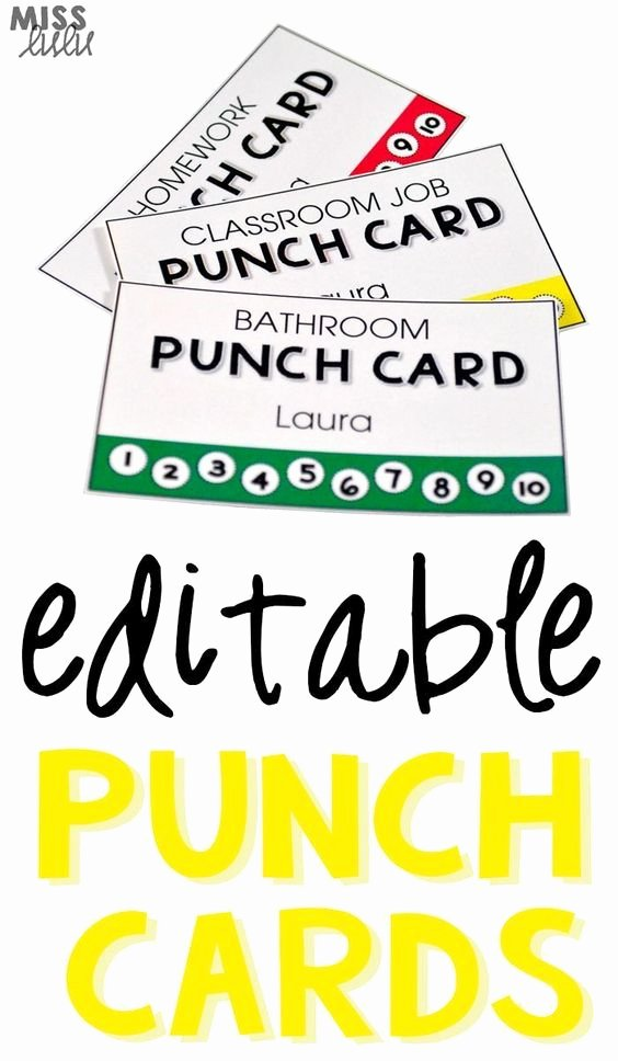 Behavior Punch Card Template Beautiful Classroom Management Punch and Classroom Jobs On Pinterest