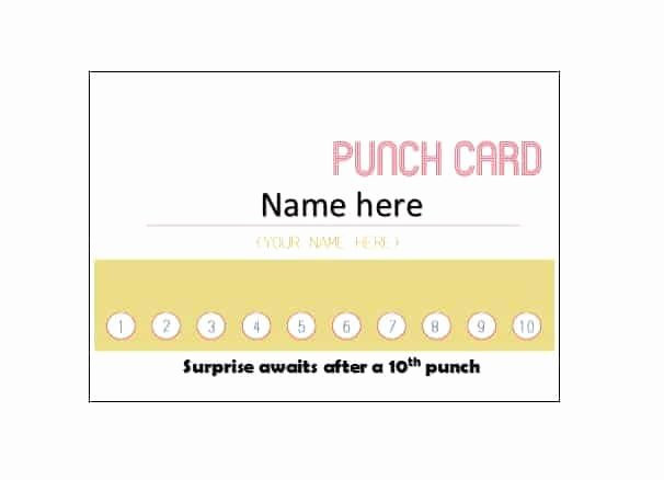 Behavior Punch Card Template Inspirational Template for 30 Day Punch Card 28 Images Punch Card