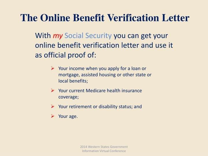 Benefit Verification Letter Best Of Ppt social Security Line Services Powerpoint