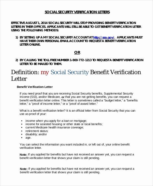 Benefits Verification Letter Unique Sample In E Verification Letter 8 Examples In Pdf Word