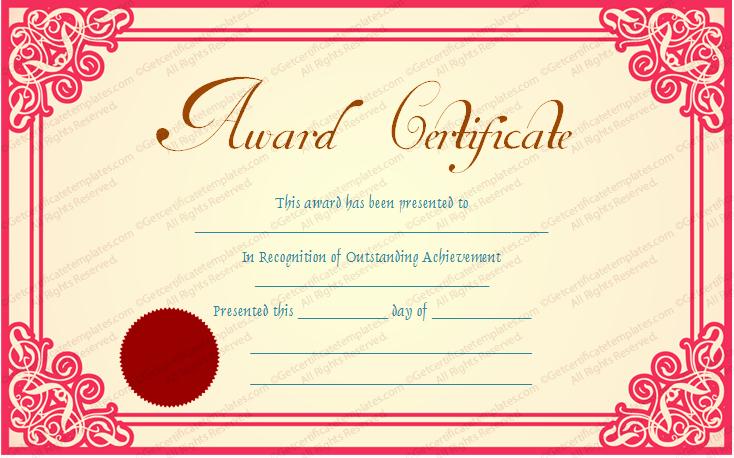 Best Boss Award Certificate Best Of Best Achievement Award Certificate Template