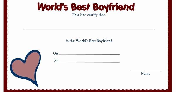 Best Boyfriend Award Certificate Fresh Free Printable Award Certificate Borders