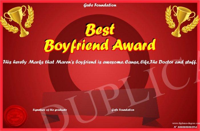Best Boyfriend Award Printable Luxury Best Boyfriend Award