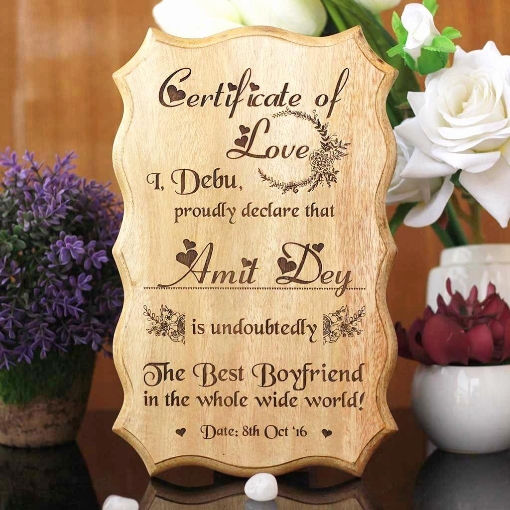 Best Boyfriend Award Template Lovely Certificate Of Love & Award for the Best Boyfriend Wooden