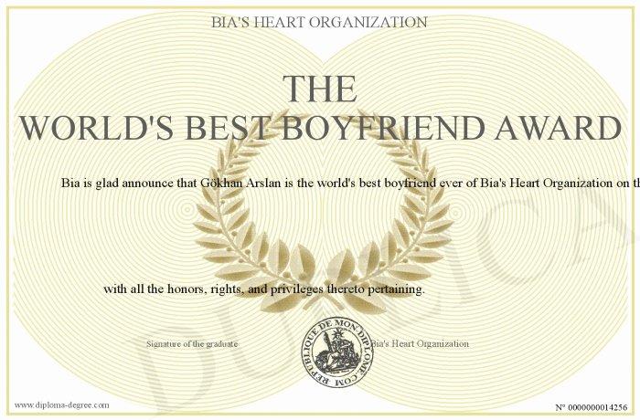 Best Boyfriend Award Template Luxury the World S Best Boyfriend Award