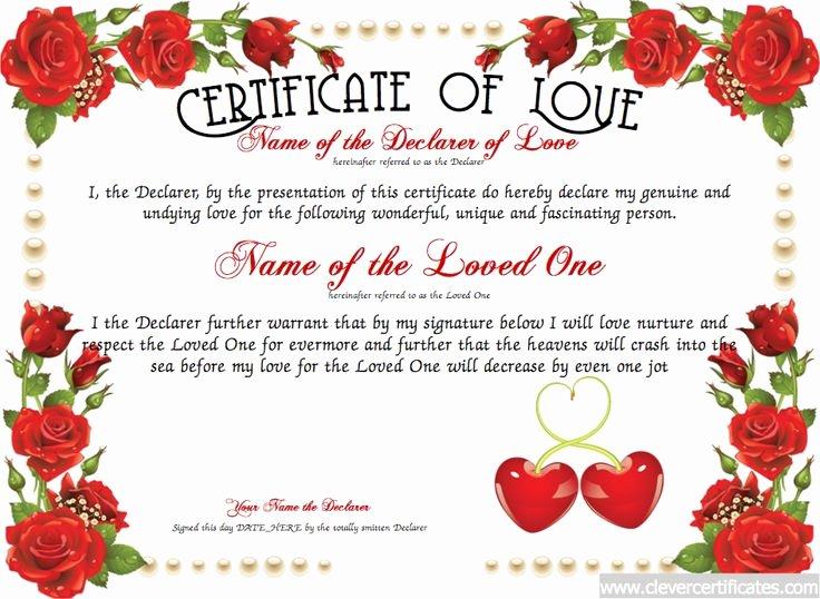 Best Boyfriend Certificate Template Inspirational Love Certificate Free Certificate Templates You Can Add