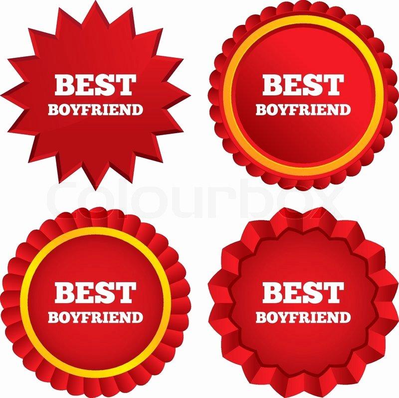 Best Boyfriend Certificate Template New Best Boyfriend Sign Icon Award Stock Vector
