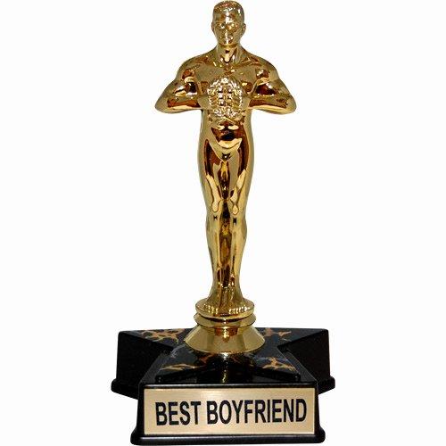 "Best Boyfriend Ever Award Elegant Hollywood Award Trophy Statue Reads ""best Boyfriend"""