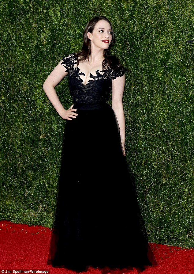 Best Boyfriend Of the Year Award Beautiful Kat Dennings Supports Boyfriend Josh Groban at 2015 tony