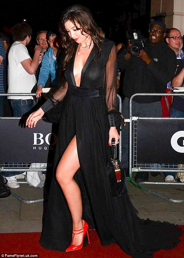 Best Boyfriend Of the Year Award New Daisy Lowe Looks In A Plunging Black Gown but