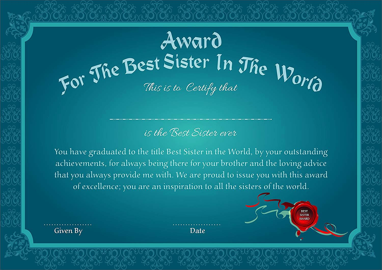 Best Brother Award Certificate Elegant Ever Wondered if Raksha Bandhan Could Be Fun Know How