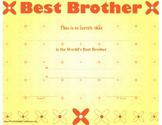 Best Brother Award Certificate Unique 125 Best Images About Different Award Certificates On