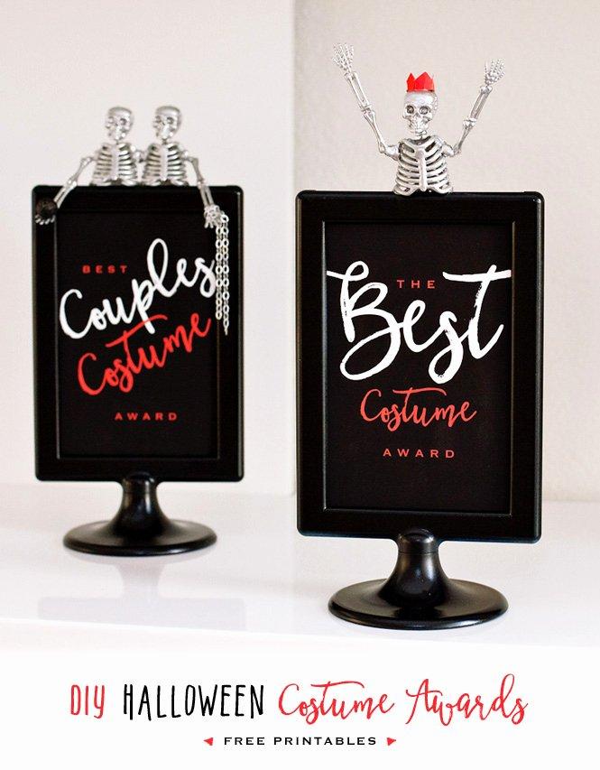 Best Costume Award Trophy Elegant Diy Halloween Costume Contest Awards Free Printables
