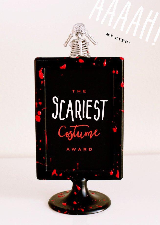 Best Costume Award Trophy Luxury Diy Halloween Costume Contest Awards Free Printables