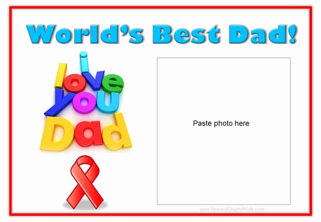 Best Dad Award Printable Awesome Best Dad Certificate
