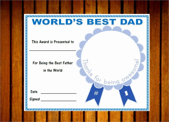 Best Dad Award Printable Awesome Printable World S Best Dad Award Father S