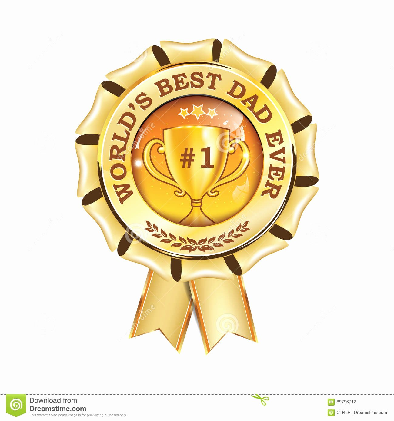 Best Dad Award Printable Luxury World S Best Dad Ever Printable Award Ribbon Stock