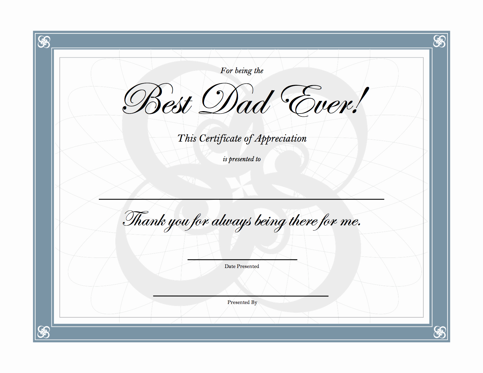 Best Dad Award Printable Unique Best Dad Ever Certificate Printable