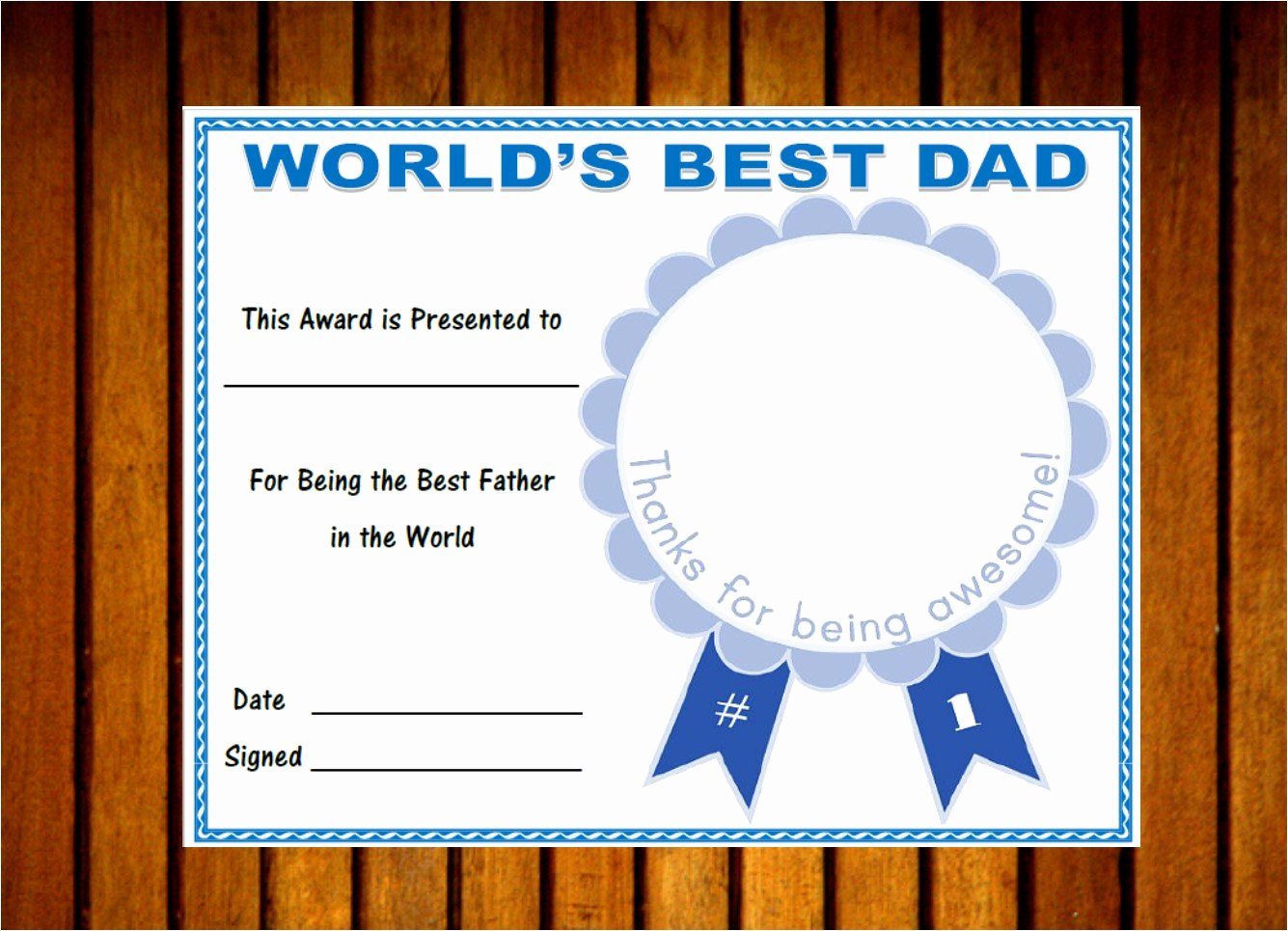Best Dad Certificate Free Printable New Printable World S Best Dad Award Father S