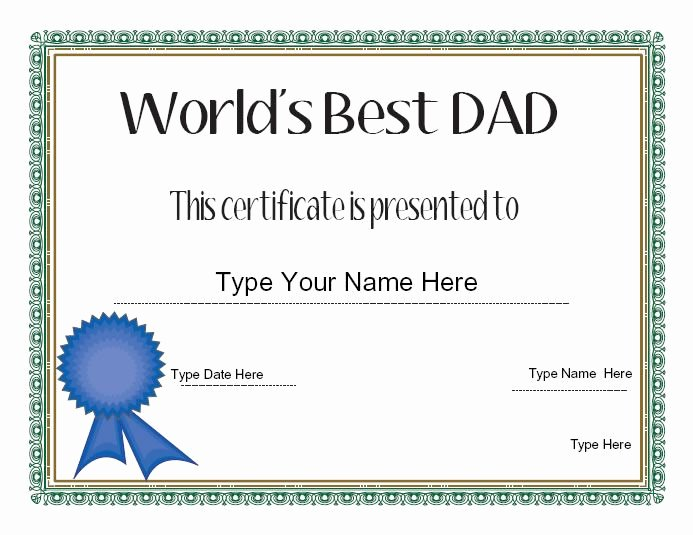 Best Dad Ever Certificate Awesome Relationships Certificate Dad S Day Certificate Dad