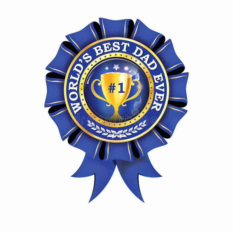 Best Dad Ever Certificate Beautiful World S Best Dad Ever Printable Award Ribbon Stock