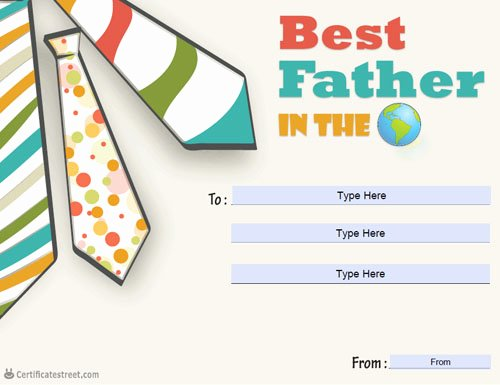 Best Dad Ever Certificate Fresh Certificate Street Free Award Certificate Templates No