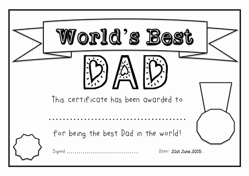 Best Dad Ever Certificate Inspirational Father S Day 2015 Resources Certificate Templates by