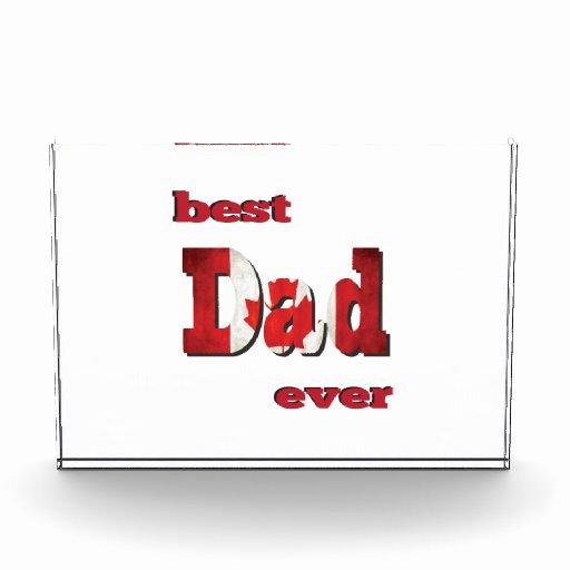 Best Dad Ever Certificate Lovely Best Canadian Dad Ever Award