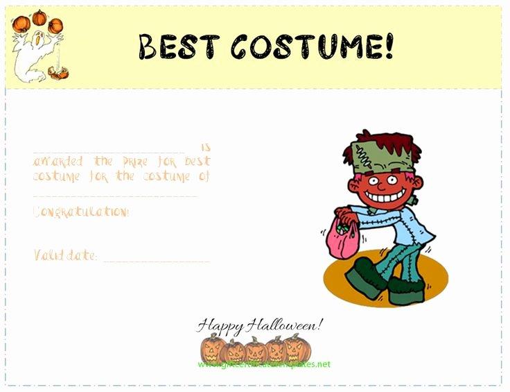 Best Dressed Award Certificate Unique Best Costume Award Certificate Template