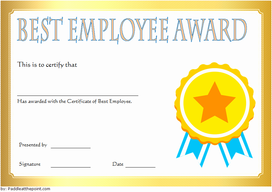 Best Dressed Award Certificate Unique Best Employee Certificate Template [10 Gorgeous Designs Free]