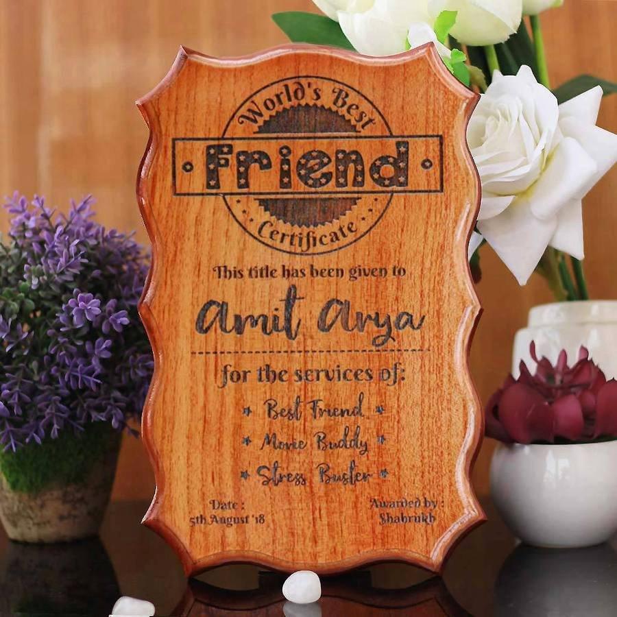 Best Friend Award Certificate Fresh Wooden Certificates Funny Certificates